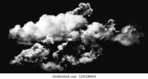 cloud stock image on black background