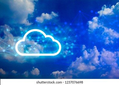 cloud storage, digital abstract for network concept, ai robot brain with algorithm system program, connect to digital deep learning, technology of global web cyber net