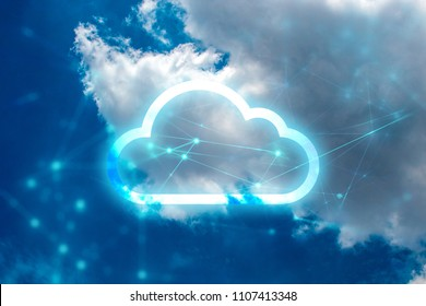 cloud storage with networking internet digital technology
