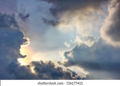 cloud with sun light