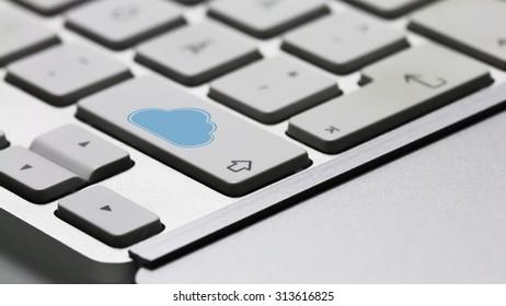 Cloud Symbol in a Shift Key of Keyboard