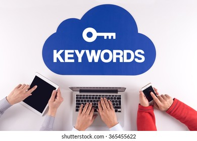 Cloud technology with KEYWORDS concept
