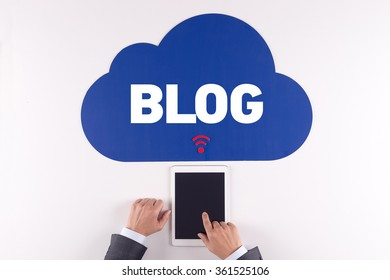 Cloud technology with a word BLOG