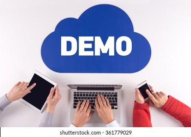 Cloud technology with a word DEMO