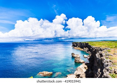 Cloud, thunderhead, landscape. Okinawa, Japan, Asia.