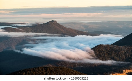 cloud in the valley, Dawn, Mt Wellington