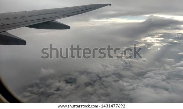 Stupendous Cloud View First Flight Window Seat Stock Photo Edit Now Dailytribune Chair Design For Home Dailytribuneorg