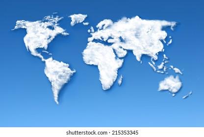 Cloud world Map