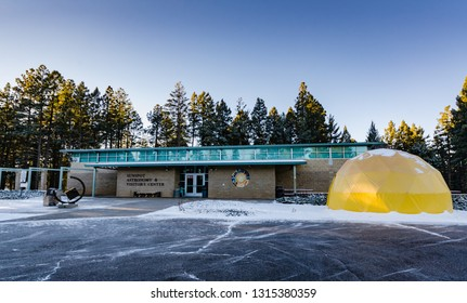 Cloudcroft, NM / USA - 11-15-2014:The Sunspot Astronomy and Visitor Center opened in 1997 as a collaboration between NSO/Sacramento Peak, Apache Point Observatory, and the USDA Forest Service.