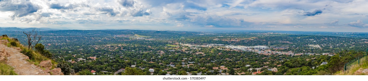 Clouds above Johannesburg North Western Suburbs Wide Panorama from Northcliff