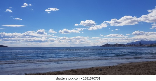 clouds above the meditterenean sea in spring
