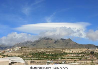 Clouds above Mount Teide, Tenerife, Canary Islands