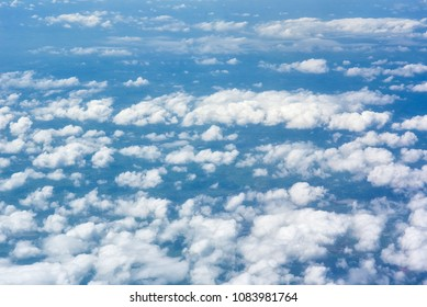Clouds from above, taken from an airplane.