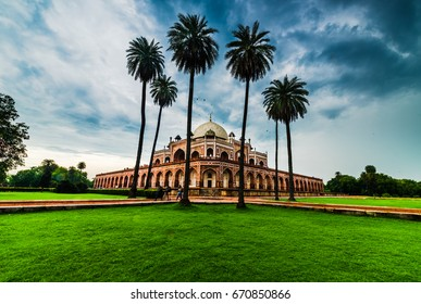 Clouds after monsoon rains at Humayun's Tomb, Delhi, a UNESCO Heritage site