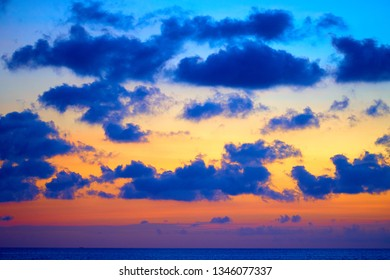 Clouds after the sunset. Spectacular nature background. Bali.