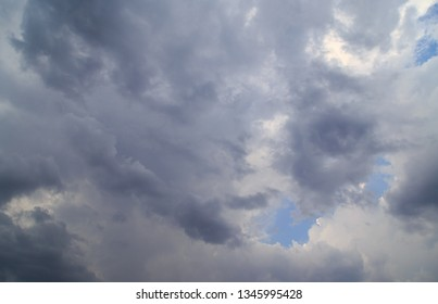 Clouds against blue sky as abstract background .