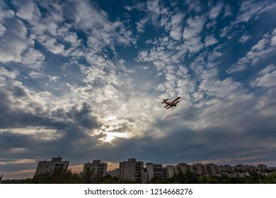 Clouds airplane Debrecen Hungary