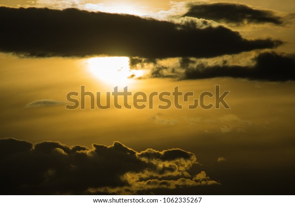 Clouds background.Clouds before sunset time