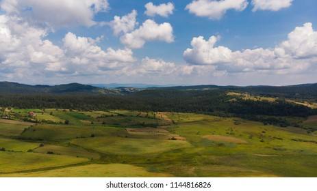 clouds and beautiful landscape on sunny day