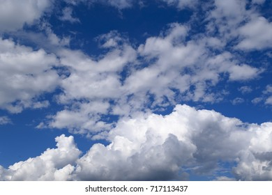 Clouds before blue sky