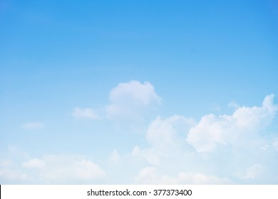 clouds in the blue sky