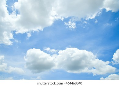 Clouds blue sky background
