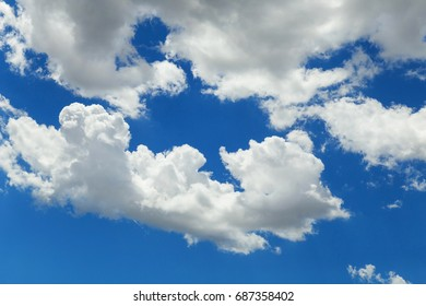 Clouds in the blue sky, background