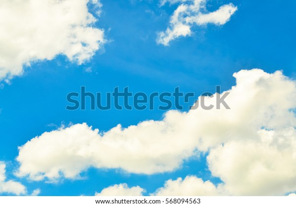 Clouds blue sky background