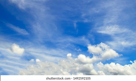 Clouds blue sky High angle air background