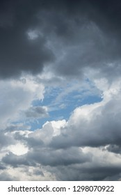 Clouds and blue sky seen from the ground