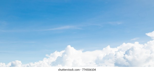 clouds in the blue sky ( Space and composition for text )