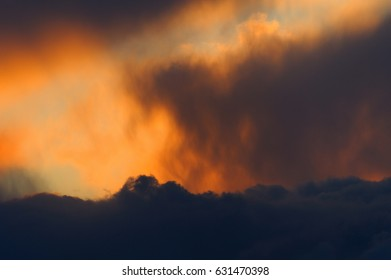 clouds by sunset