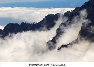 Clouds in Caldera de Taburiente, La Palma´s Island, Canary Islands, Spain