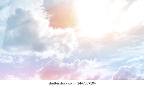 Clouds and colorful sky background