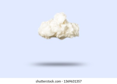 Clouds of cotton wool on a blue background. Weather concept.