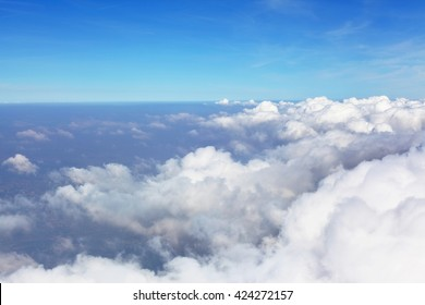 Clouds and dramatic sky, an airplane view
