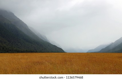 Clouds in Ellington Valley - south island, New Zealand