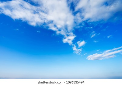 Clouds fluffy on blue sky background