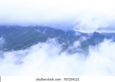 Clouds and Fog on Mountains Causing Limited Visaility