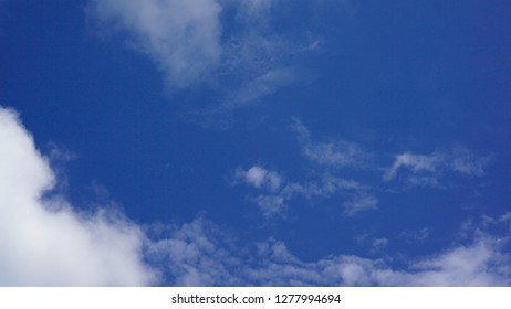 clouds formation with clear blue skie