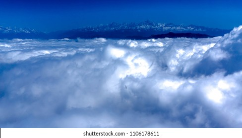 Clouds in front of Himalaya