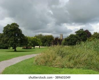 Clouds gathering over Glastonbury