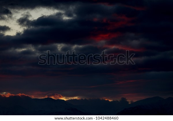 clouds grey pink  sunrise in the spring  for sky background