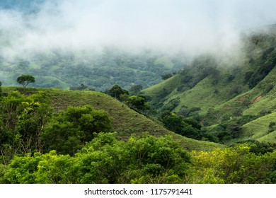 Clouds hanging in the hills of Monteverde Costa Rica.