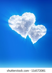Clouds -?? as hearts. Heavenly love