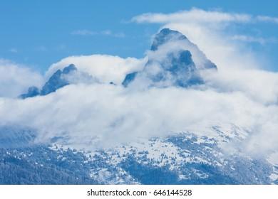 Clouds Hug The Tetons