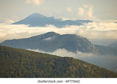 Clouds in landscape