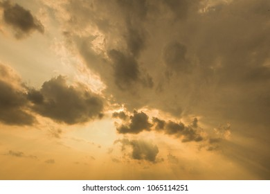 Clouds and light in the sky.