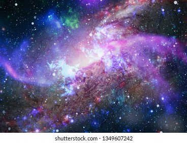 clouds of mist on bright colorful backgrounds. Elements of this image furnished by NASA