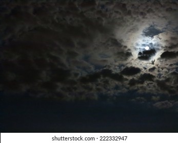 clouds and moon at the night
